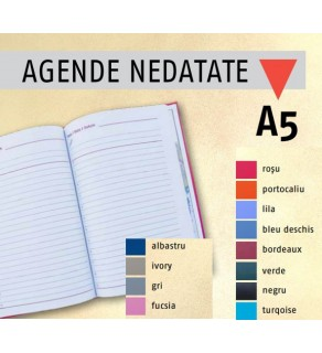 Agenda A5 nedatata